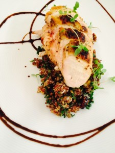 Roasted Chicken w/Warm Quinoa Salad