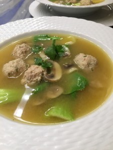 Thai Chicken Meatball Soup